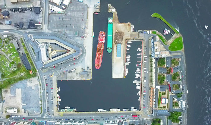 Aerial View of Port of Galway Harbour
