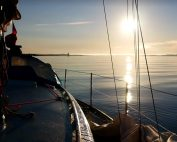 Beautiful Sunrise Sailing Film Port of Galway Harbour