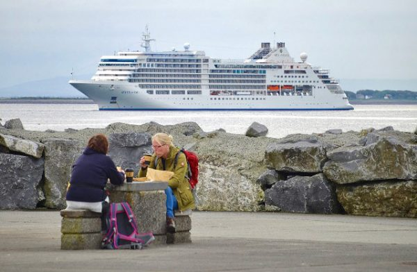 Silver Muse at Port of Galway Harbour