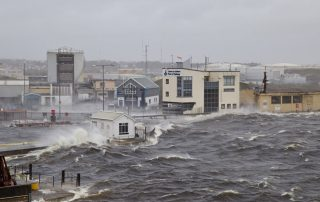 Ex Hurricane Ophelia Port of Galway Ireland