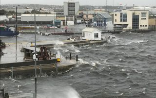 Hurricane Ophelia Port of Galway Ireland