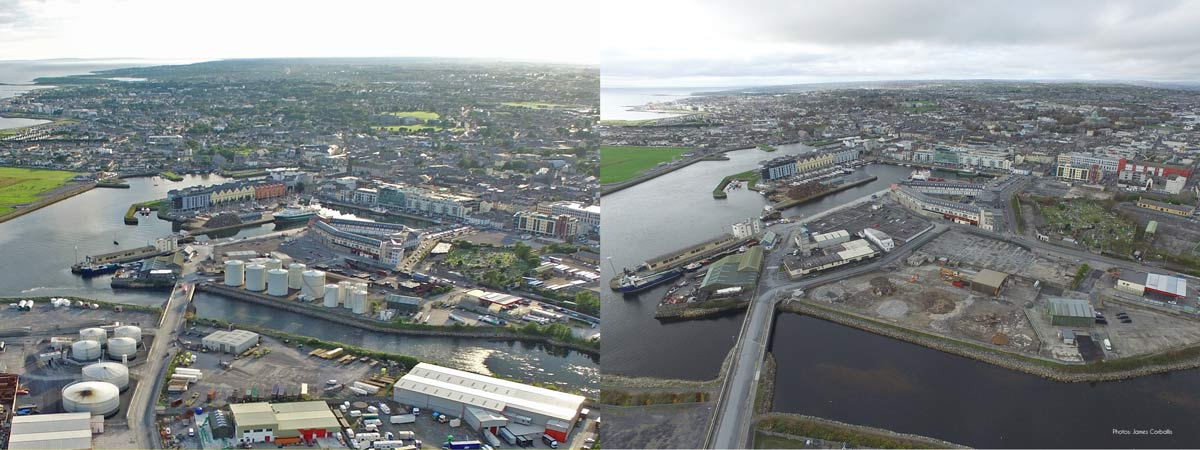 Port of Galway Oil Terminals Before and After